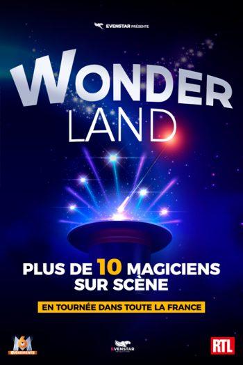 Affiche Wonderland spectacle magie narbonne arena