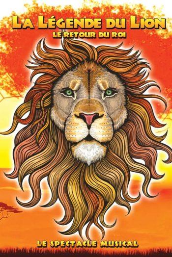 Affiche La légende du lion spectacle concert narbonne arena